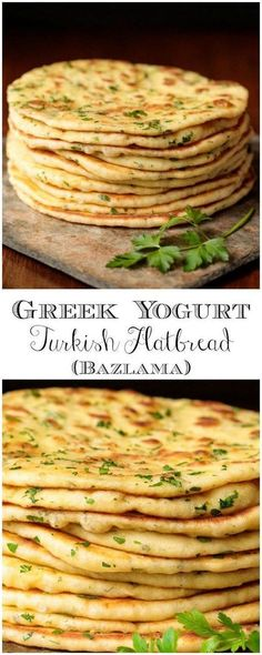 This delicious, pillowy soft Turkish Flatbread is an easy, one-bowl-no-mixer recipe using Greek Yogurt. It's perfect with hummus, tabouli, for wraps and more! recipes easy no yeast dinner rolls Greek Yogurt Turkish Flatbread (Bazlama) Bread Machine Recipes, Easy Bread Recipes, Cooking Recipes, Easy Cooking, Flat Bread Recipe Easy, Cooking Tips, Cooking Classes, Greek Cooking, Cooking Steak