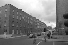 The street where I was born back in 1964 . A home birth which was the norm then . Old Pictures, Old Photos, Dublin Ireland, Old City, 1970s, Birth, Past, Old Things, Street View