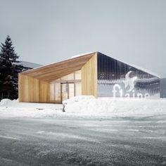 R-Architecture adds mirror-clad Visitors Centre to Marcel Breuer's iconic Flaine ski resort, Haute-Savoie, France