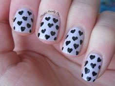 #hearts #white #black