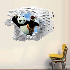 Find More Wall Stickers Information about 1pc Kung Fu Panda 3D Wall Sticker Bedroom Livingroom Study Decorative Collages Removable Home Decorative Sticker 2070WS,High Quality sticker oracle,China stickers 2 Suppliers, Cheap sticker sheets for printer from NAAN GUO Store on Aliexpress.com