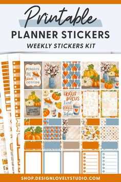 Cute Planner, Weekly Planner Printable, Printable Planner Stickers, Happy Planner, Planner Layout, Planner Decorating, Halloween Stickers, Kit, Fall