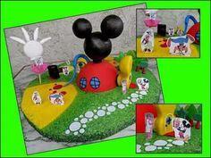casa mickey mouse adorno porcelana fria torta cumpleaños