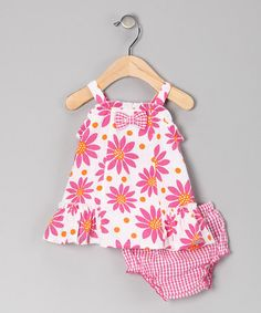 Take a look at this Pink Flower Dress & Diaper Cover - Infant  by Mayfair on #zulily today!