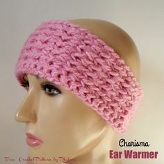 Free crochet pattern for the Charisma Ear Warmer. The warmer has a lovely stretch for a comfortable fit.