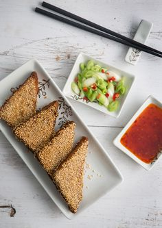 If you've ever been disappointed by soggy sesame prawn toast arriving at your house from a take-away, Victoria suggests, the perfect solution: make it yourself. She shares her recipe for this delicious Chinese starter. New Recipes, Cooking Recipes, Healthy Recipes, Savoury Recipes, Prawn Toast Recipe, Shredded Beef Recipes, Prawn Dishes, China Food, Great British Chefs
