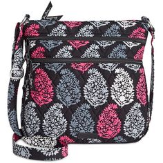 36cb8e30c0 Vera Bradley Triple Zip Hipster Crossbody ( 43) ❤ liked on Polyvore  featuring bags