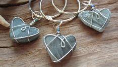 Beach Heart Keychain by heart2heartdesign on Etsy, $14.00