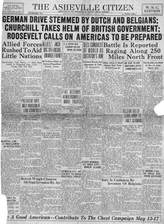 WWII newspaper article