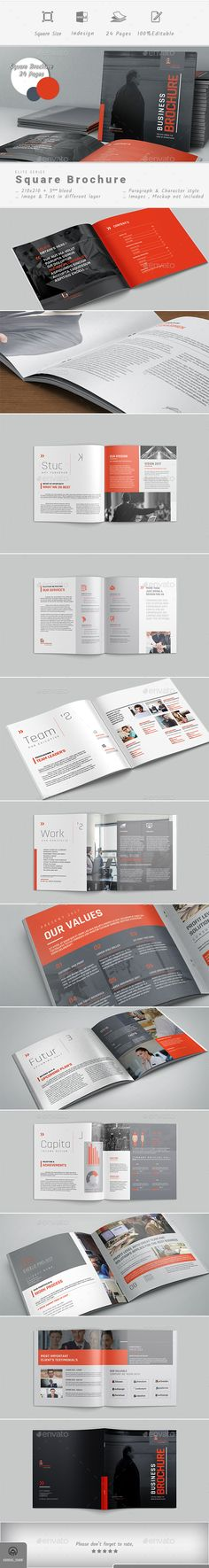 Corporate Brochure Design Template - Corporate Brochures Design Template InDesign INDD. Download here: https://graphicriver.net/item/brochure/19446315?ref=yinkira
