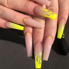 What you need to know about acrylic nails - My Nails Drip Nails, Aycrlic Nails, Neon Nails, Cute Nails, Pretty Nails, Manicure, Glitter Nails, Best Acrylic Nails, Summer Acrylic Nails
