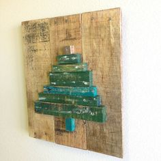 Pallet Wood Christmas Tree Sign Christmas by KFarmsWoodworking