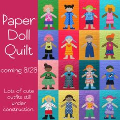 Paper Doll Quilt Update - Shiny Happy World