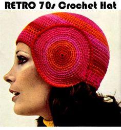 Vintage Crochet Beanie Hat PDF Pattern - 2015 Winter Beanies for Girls… Vintage Crochet Doily Pattern, Crochet Wedding Dress Pattern, Vintage Crochet Patterns, Crochet Cardigan Pattern, Vintage Knitting, Hat Patterns, Crochet Ideas, Crochet Beanie Hat, Crochet Gloves