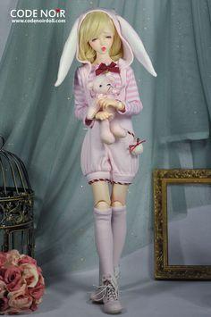 [Pre-order]CMD000056 Pink Rabbit Jumpsuit [CMD000056] - US$61.23 : CodeNoir, Design Studio for BJD - Unique Dolls, Doll Fashion, Shoes and Accessories