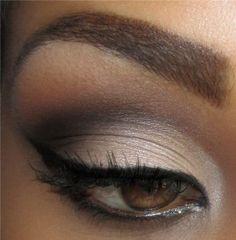 smokey eye makeup for brown eyes