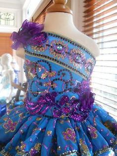 National Glitz Pageant Dress OOAK Custom by Cate Doddy