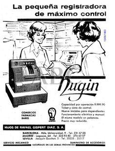 Hugin. La pequeña registradora de máximo control. Año 1963.