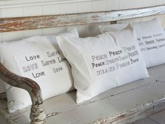 Vintage White Love Cushion - Nordic House