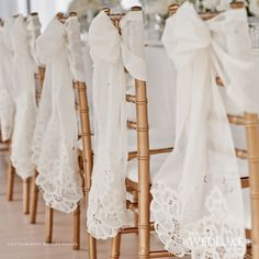 lace chair decoration #wedding lace chair #lace dinner decor