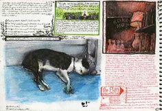 """""""Sketchbook page"""" by Esao Andrews 6.5""""x 9"""" paper. 2008"""