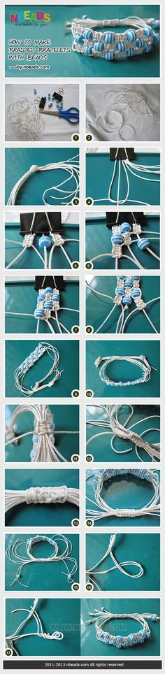 How to Make Braided Bracelets with Beads – Nbeads como hacer pulseras trenzadas con cuentas Hemp Jewelry, Jewelry Clasps, Macrame Jewelry, Diy Jewelry, Handmade Jewelry, Jewelry Making, Jewellery, Gothic Jewelry, Metal Jewelry