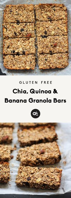 Banana Protein Bars, Peanut Butter Protein Bars, Banana Bars, Peanut Butter Granola, Oat Bars, Banana Quinoa Breakfast Bars, Healthy School Snacks, Protein Snacks, Healthy Sweets