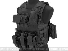 Matrix MEA Tactical Vest with M4 Magazine Pouches and Hydration Bladder - Black