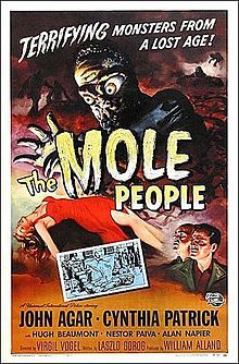 The Mole People 1956  starring John Agar, Alan Napier, Hugh Beaumont and Cynthia Patrick
