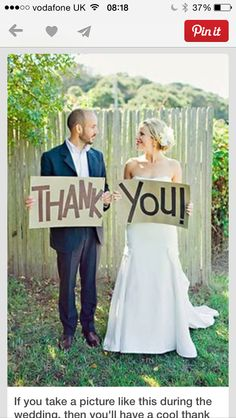 Good idea for thank you cards