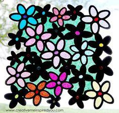 Summertime Stained Glass Sun Catchers - CreativeMeInspiredYou.com