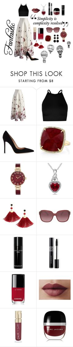"""""""Fantastic"""" by nancydrew2 ❤ liked on Polyvore featuring Chicwish, Boohoo, Gianvito Rossi, Anne Sisteron, Anne Klein, Miadora, Shashi, Coach, Bobbi Brown Cosmetics and Christian Dior"""