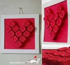 Egg carton heart craft to celebrate Valentine's Day from PBS Parents. Valentines Bricolage, Valentine Crafts For Kids, Valentines Day Activities, Valentine Decorations, Valentine Day Crafts, Happy Valentines Day, Holiday Crafts, Egg Carton Art, Egg Carton Crafts