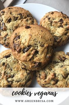 Vegan Desserts, Vegan Recipes, Cookies Receta, New Cake, Sin Gluten, Chip Cookies, Healthy Choices, Vegan Vegetarian, Cookie Recipes