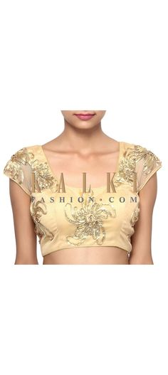 Buy Online from the link below. We ship worldwide (Free Shipping over US$100). Product SKU - 311684.Product Link - http://www.kalkifashion.com/gold-blouse-featuring-in-embroidered-butti-only-on-kalki.html