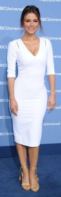Maria Menounos: Dress – Victoria Beckham Collection  Shoes – Aquazzura