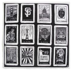 San Francisco Loteria print available from 3 Fish Studios.