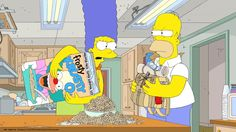 """Finished Scene from the """"Homer Goes To Prep School"""" episode of THE SIMPSONS. Homer And Marge, Homer Simpson, Simpson Wallpaper Iphone, Iphone Wallpaper, The Simpsons Theme, Family Tv, Santa's Little Helper, Prep School, Manga"""