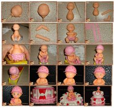 "Pin von Lesley Piper auf ""Fimo and icing figures"" Fondant Icing, Fondant Toppers, Fondant Cakes, Fondant Figures Tutorial, Cake Topper Tutorial, Chocolate Tres Leches Cake, Chocolate Fondant, Modeling Chocolate, Fondant People"