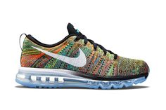 ba732f53a Nike Flyknit Air Max Black Chlorine Blue-Total Orange-White