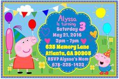 Peppa Pig Invitation Digital Birthday Party Invitation Free Self Adhesive Envelopes 24 HR is Available ModInvitations.etsy.com