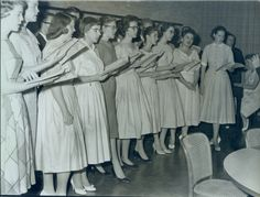 Choral performance, Rice Institute, 1958