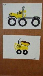 Footprint truck art craft for kids
