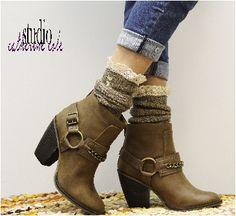 boot socks short   Nordic lace brown boot socks   combat boot socks women   slouch socks