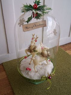 Dancer and Prancer Bell Jar Assemblage | Flickr - Photo Sharing!