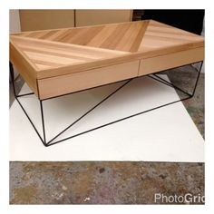Redfox and Wilcox - Coffee Table - Timber - Parquetry - Black