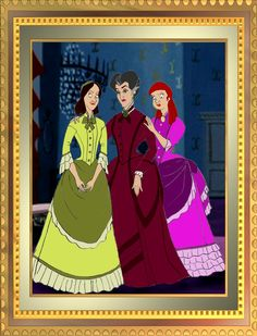 Cinderella 1870 , step family at home, more historically accurate dresses