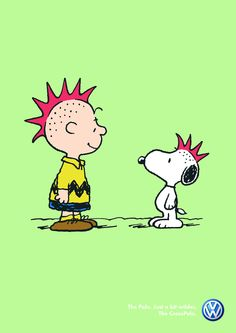 this is one I haven't seen before, Punk Charlie Brown and Snoopy