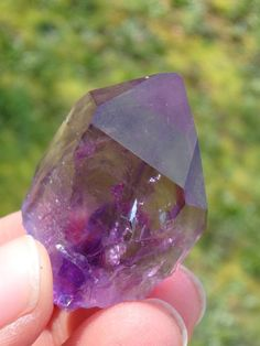 Water Bubble! Enhydro Dark Purple BRANDBERG AMETHYST SPECIMEN~ AVAILABLE HERE: http://www.earthfamilycrystals.com/water-bubble-enhydro-dark-purple-brandberg-amethyst-specimen