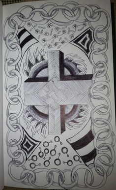 Zentangle Cross by: Tina Lonabarger